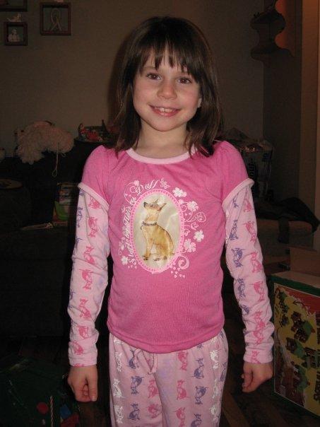 Megan 9 years old in her pj's
